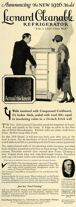 Leonard Cleanable Refrigerator 1926.JPG